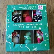 Shiny Brite Musical Dwarf Band Christmas Ornaments