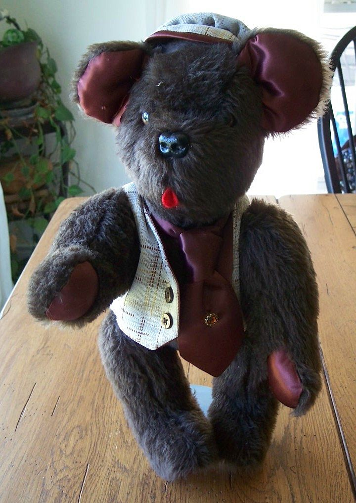 "Knickerbocker Brown 16"" Teddy Bear"
