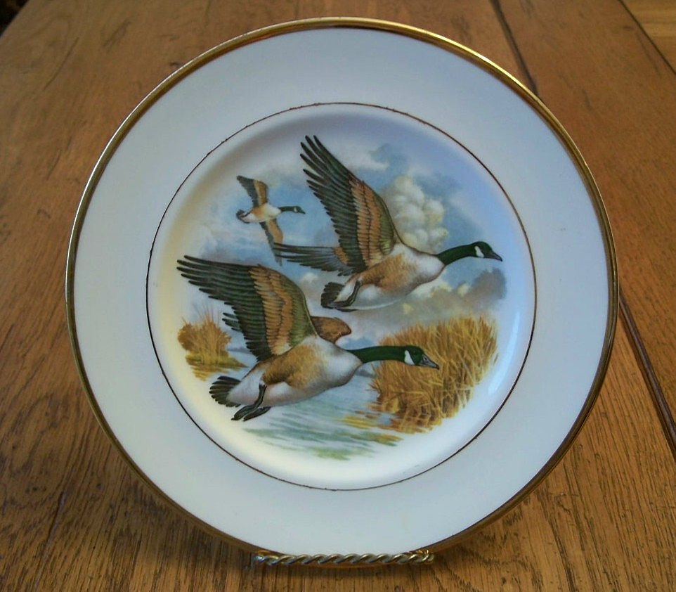 English Bone China Duck Plate