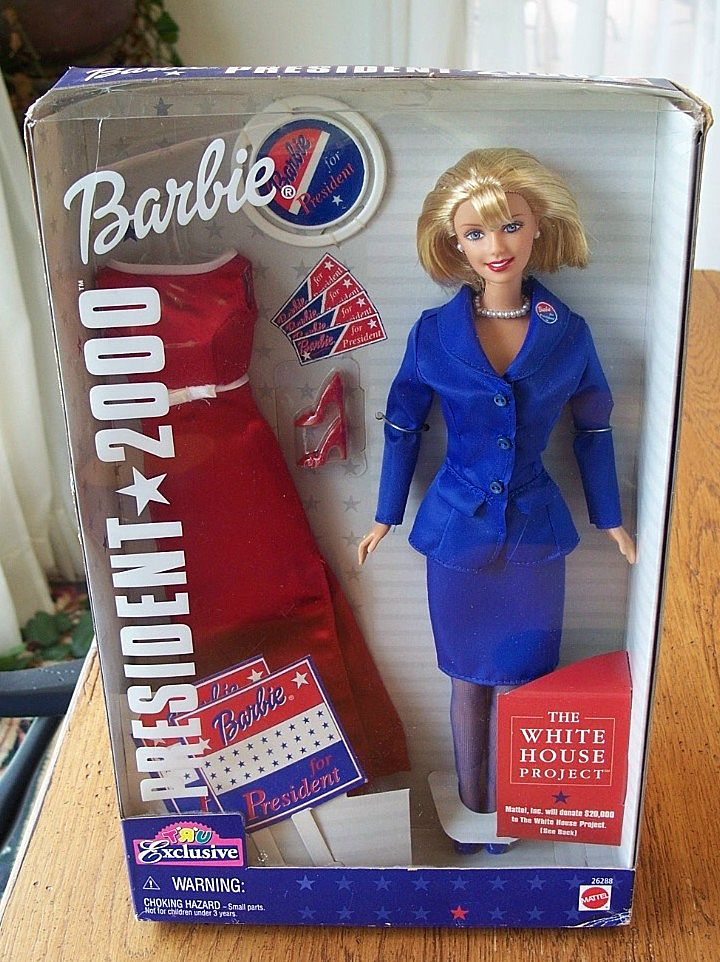 President 2000 Barbie Doll By Mattel