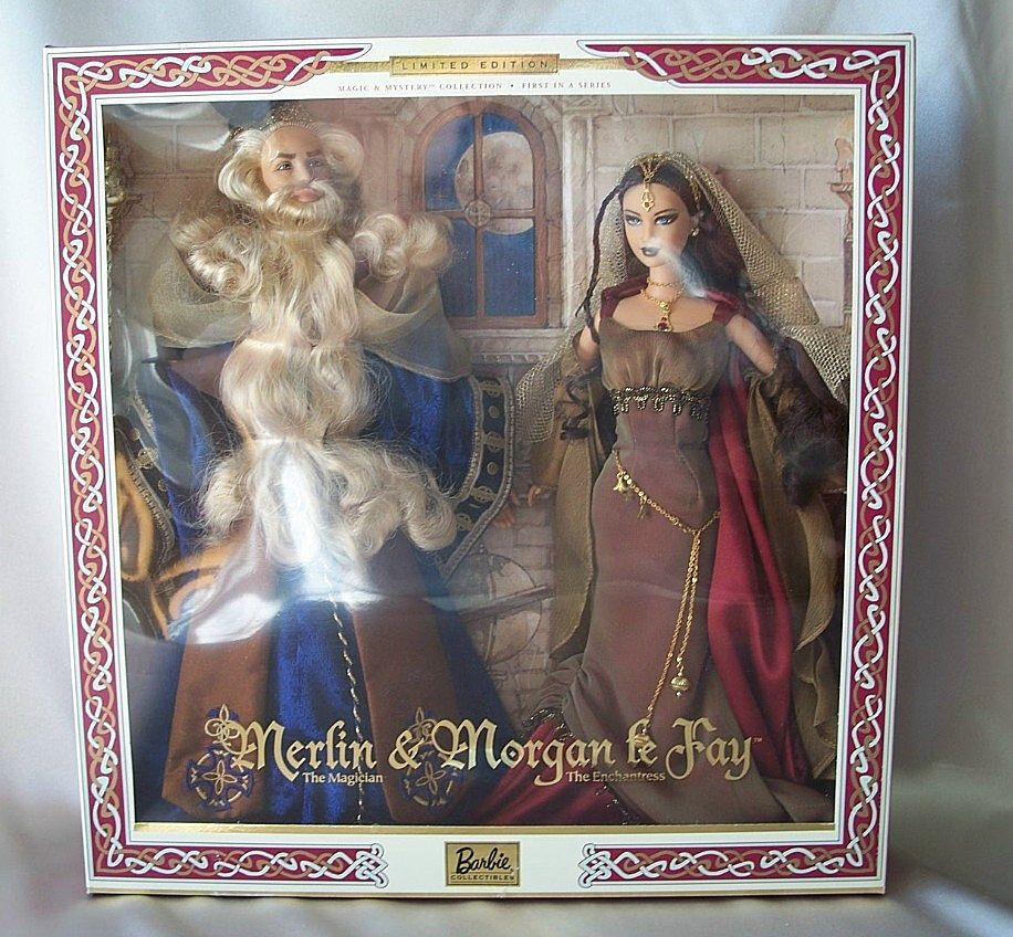 Ken Amp Barbie As Merlin Amp Morgan Le Fay Mattel Giftset From Colemanscollectibles On Ruby Lane