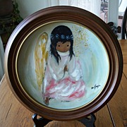 DeGrazia Little Prayer The Christmas Angel  1981 Plate