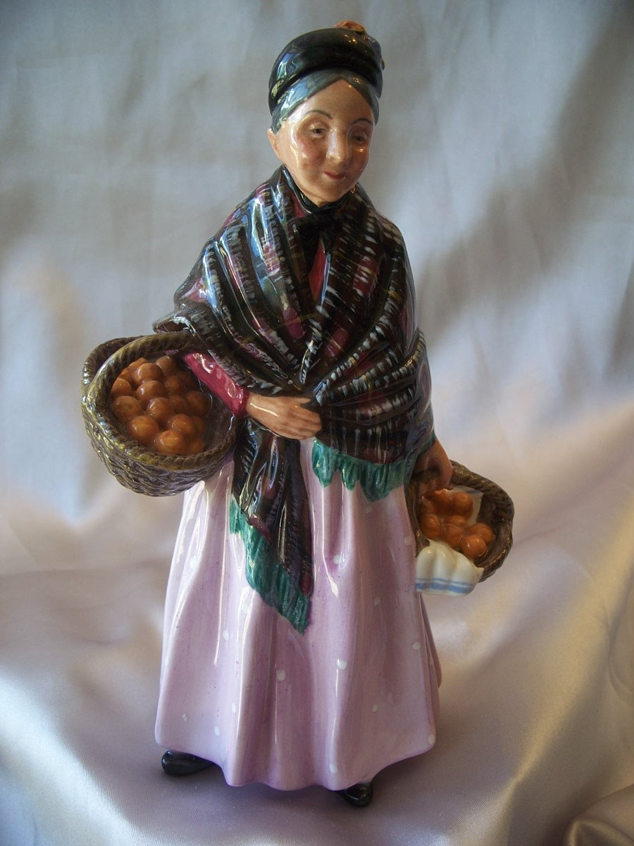 Royal Doulton HN 1759 Orange Lady Figurine
