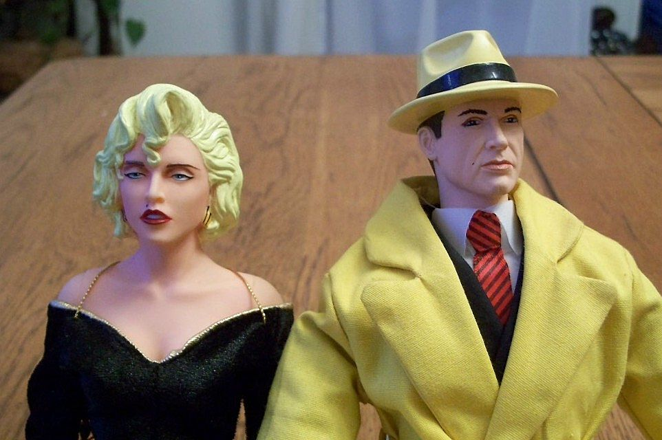 Dick Tracy and Breathless Mahoney Dolls 1990