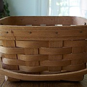 Handmade Longaberger Basket Dated 1990