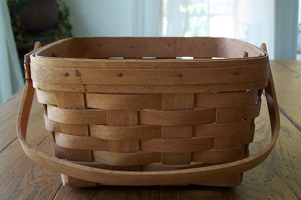 Handmade Longaberger Basket Dated 1990