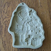 Brown Bag Cookie Art Santa With Tree