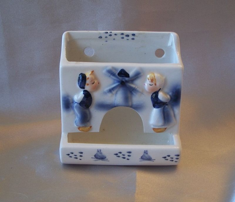 Enesco Hand Painted Ceramic Toothpick Holder