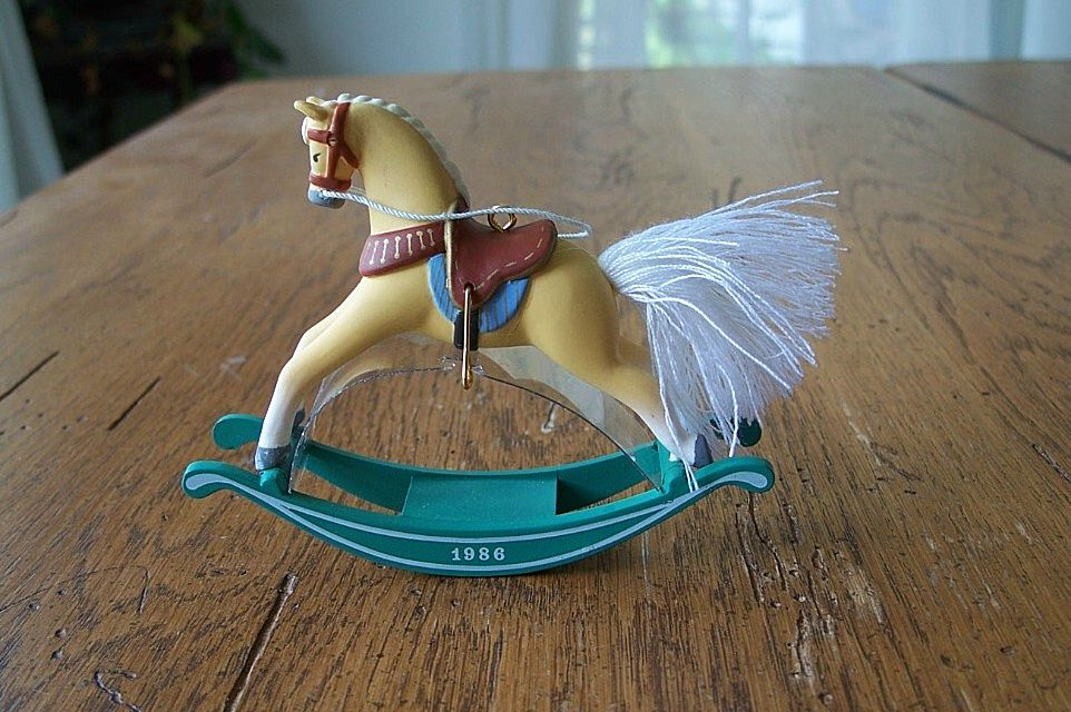 Hallmark Keepsake Rocking Horse Ornament 1986