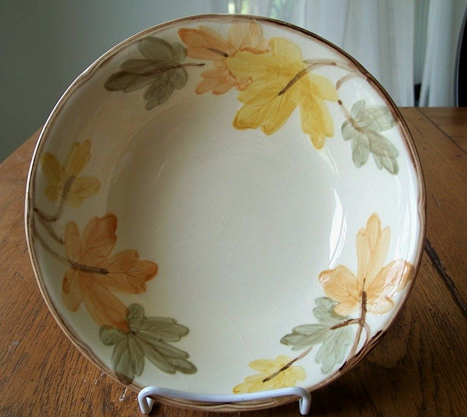"Franciscan October Serving Bowl 9"" USA"