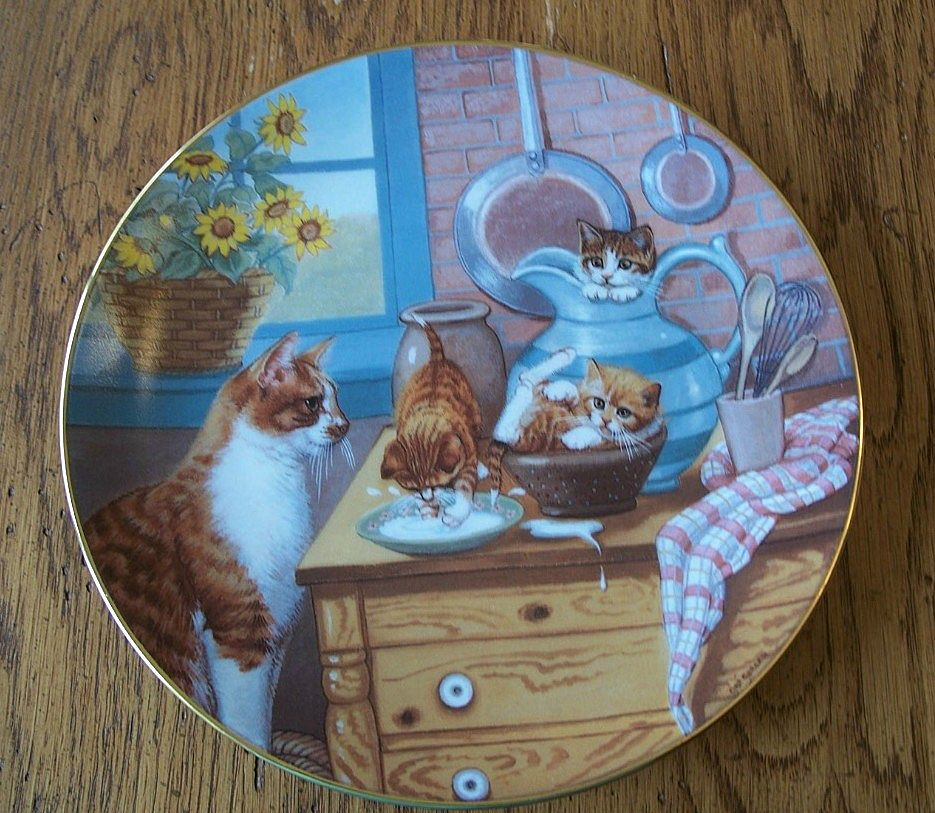 1988 Hamilton Collector Plate Table Manners