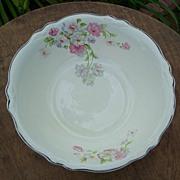 Homer Laughlin China Virginia Fluffy Rose Serving Bowl