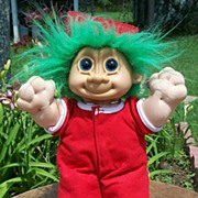Russ Troll Doll In Red Pajamas - Red Tag Sale Item
