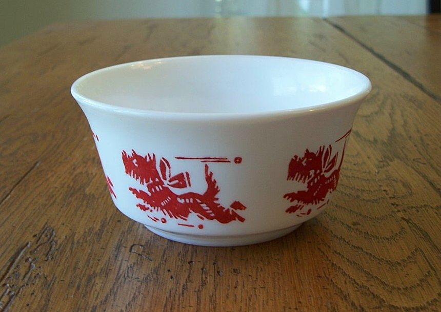 Hazel Atlas Scottie Dog Child Cereal Bowl