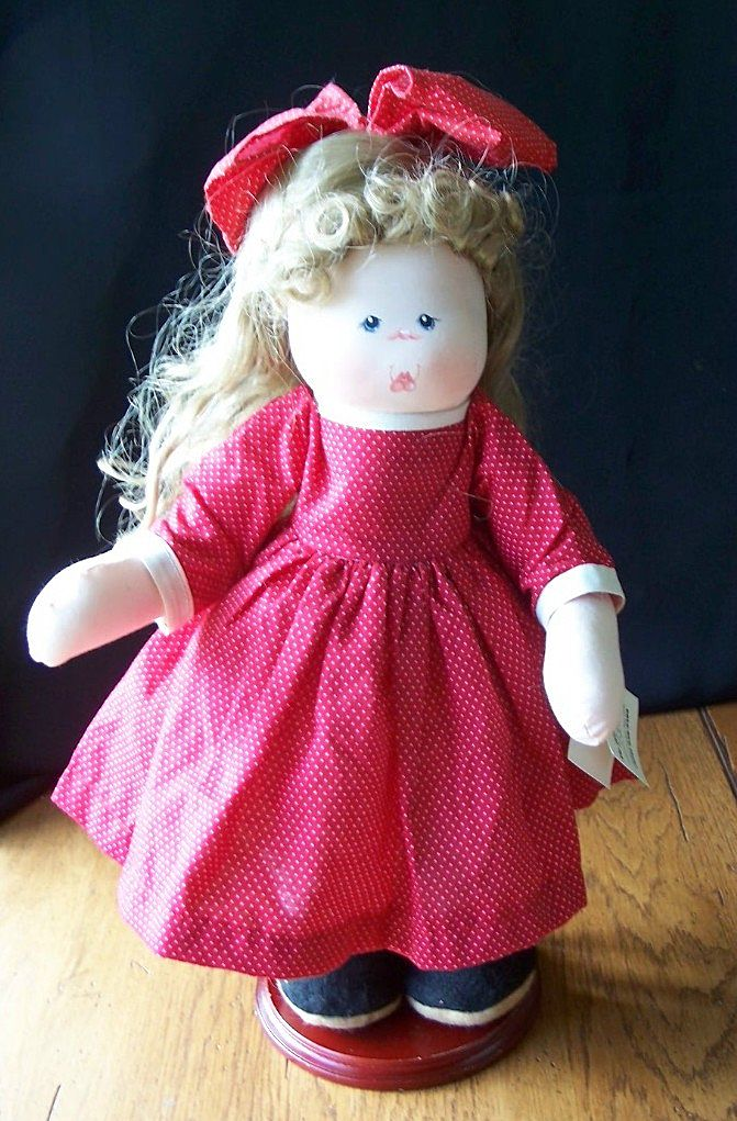 Handcrafted Rag Doll By Ruth Johnson