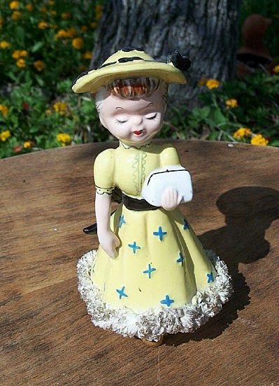 Wales Ceramic Little  Girl  Figurine