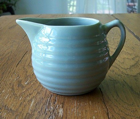 Bauer Pottery Gray Ring Ware Cream Pitcher