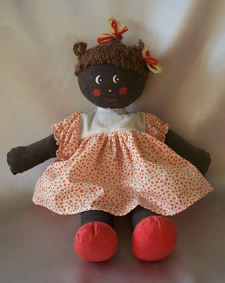 Hand Crafted Black Cloth Doll