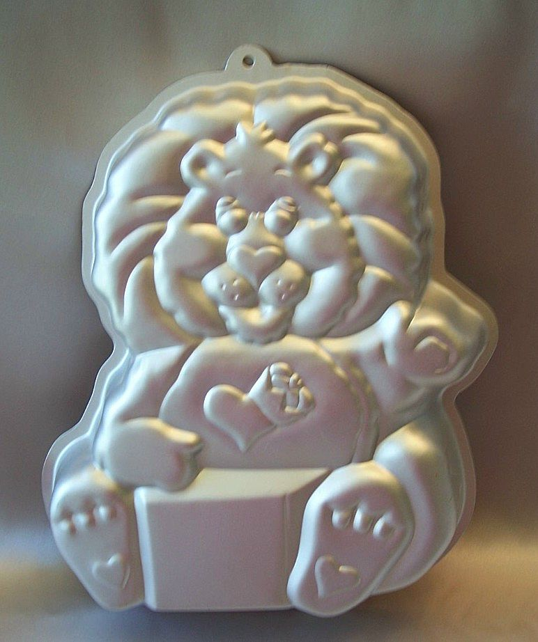 Wilton Brave Heart Lion Cake Pan 1984 Care Bears