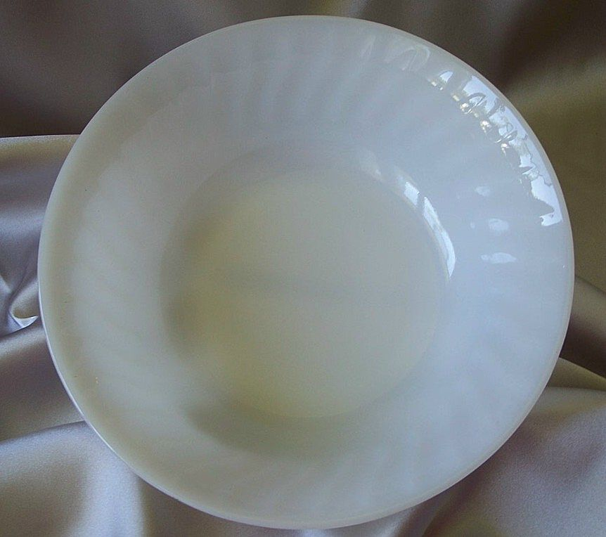 Fire King Oven Ware White Swirl Vegetable Bowl