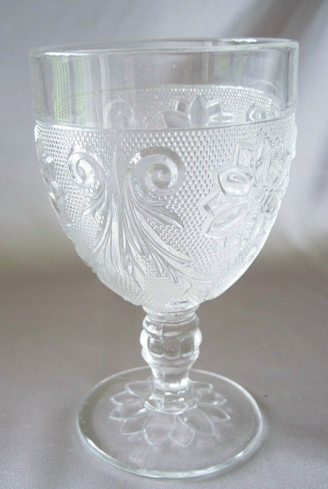 Crystal Sandwich Goblet by Indiana Glass