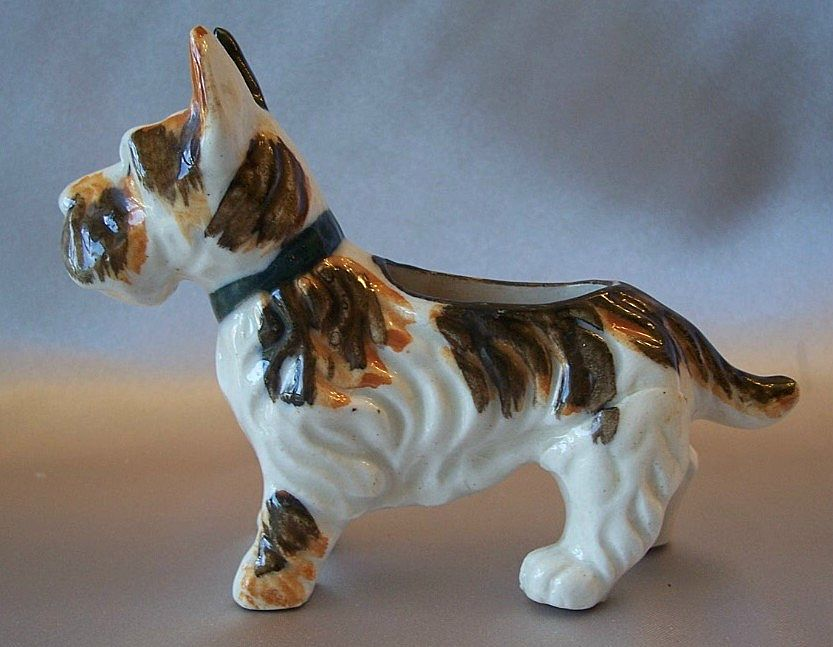 Scotty Dog Pin Cushion Holder Japan