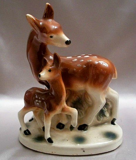 Made In Japan Ceramic Deer Planter