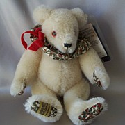 Merrythought Renaissance White  Mohair Bear