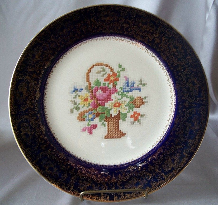Decorative Floral Design Plate