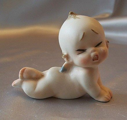 Porcelain Bisque Crying Kewpie Figurine