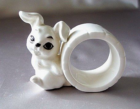 Rabbit Napkin Ring by Schmid Bros.