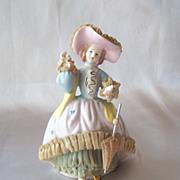 Ceramic Victorian Style Lady Figurine