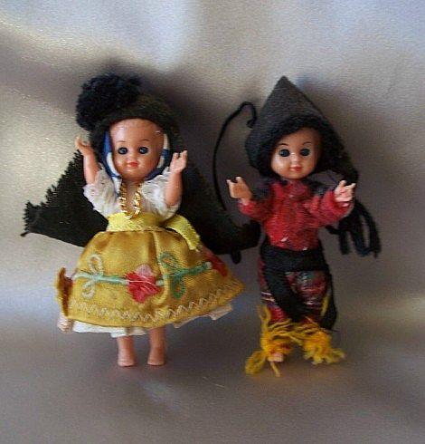 Two Little Vintage Plastic Dolls