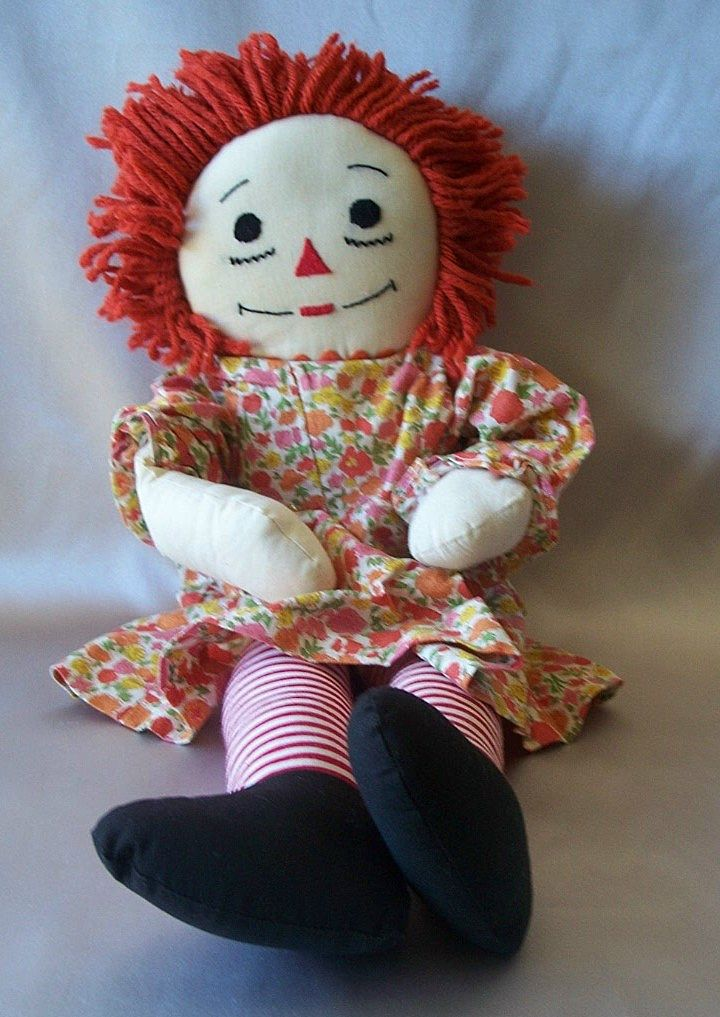 Hand Made Raggedy Ann Cloth Doll