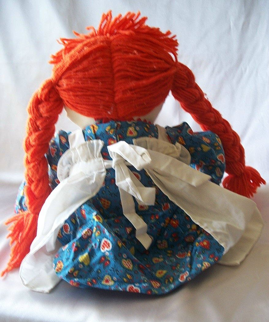 hand made raggedy ann cloth doll from colemanscollectibles on ruby