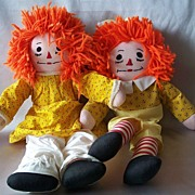 Raggedy Ann & Andy Cloth Dolls Hand Made