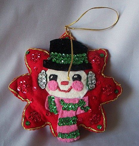 Handcrafted Snowman Christmas Ornament