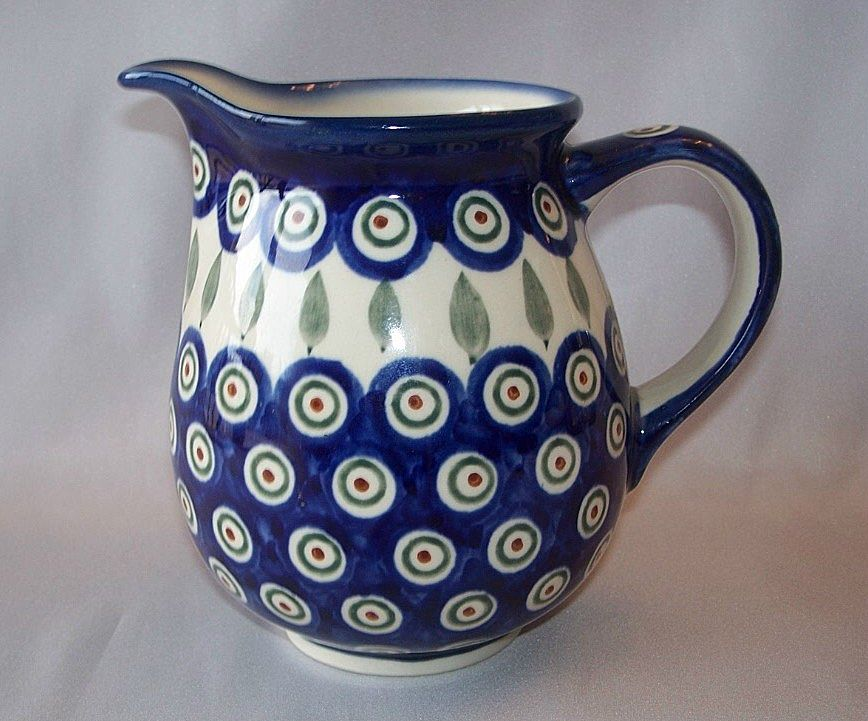 Boleslawiec Polish Pottery Milk Pitcher From