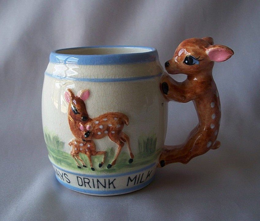 Deer Design Ceramic Child's Mug