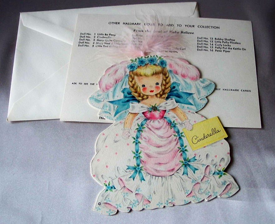 Hallmark Cinderella Doll Card 1947