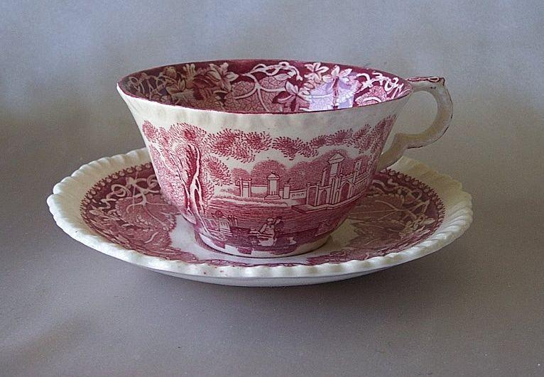 Masons Vista Pink Cup And Saucer