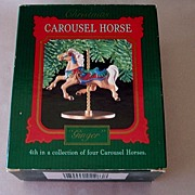 Hallmark Keepsake Ornament Carousel Horse Ginger