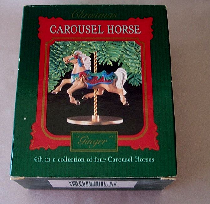 Hallmark Keepsake Ornament Carousel Horse Ginger