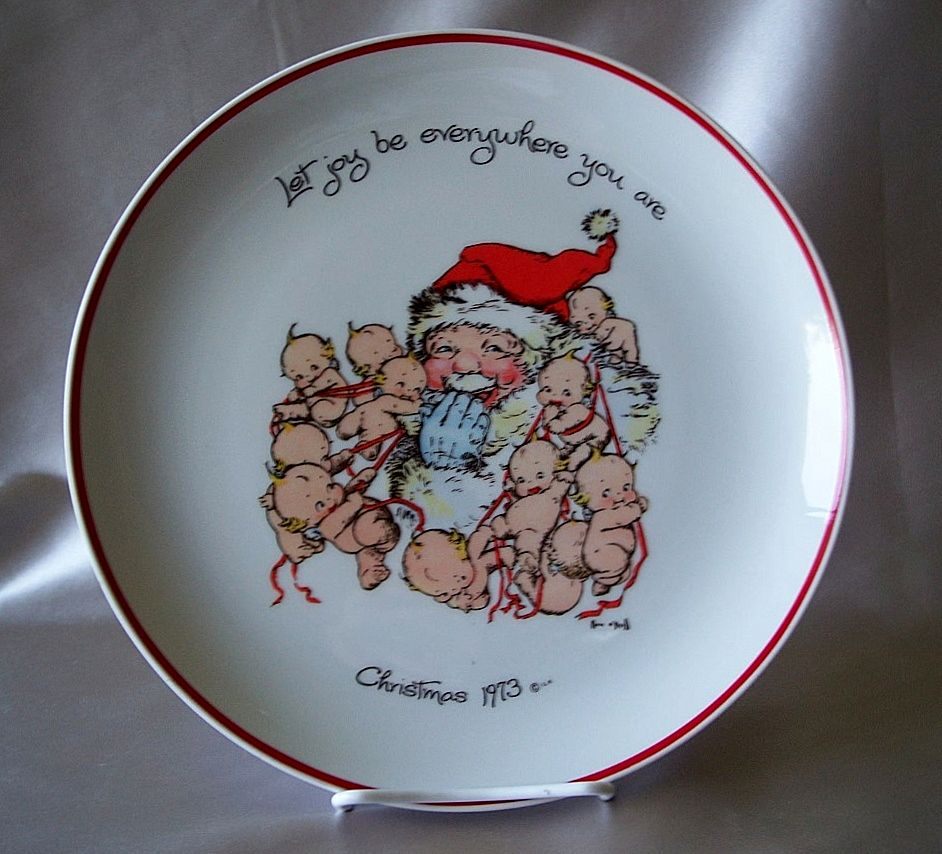 Kewpie Commemorative Edition 1973 Christmas Plate