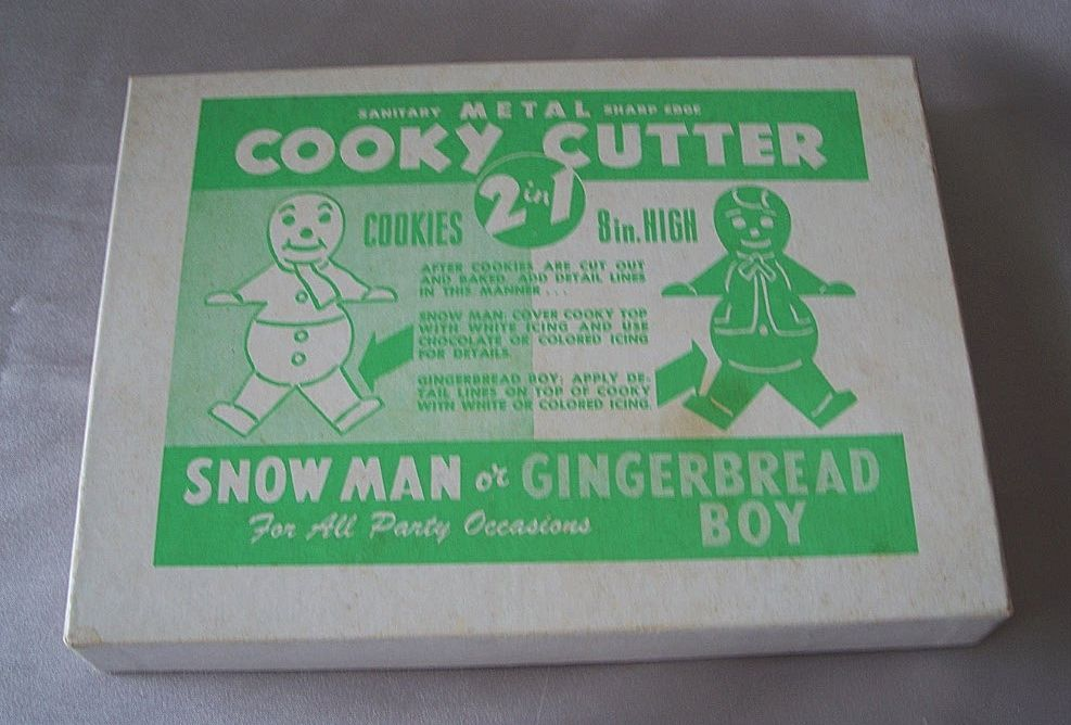 Two In One Cookie Cutter Gingerbread Boy Or Snow Man 8""