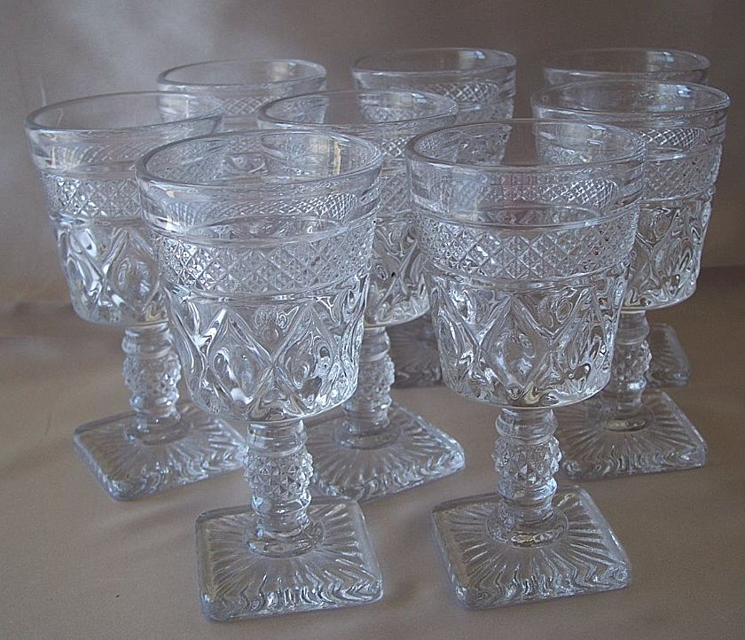Crystal Imperial Glass Cape Cod Wine Stems From