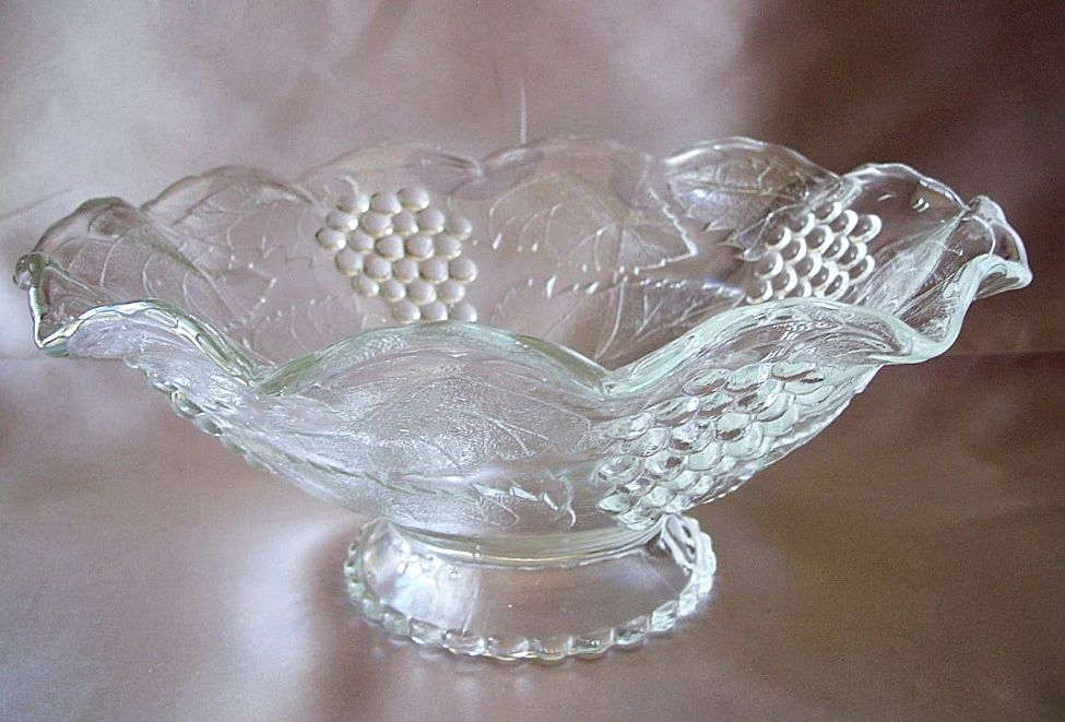 Harvest Grape Crystal Footed Bowl Colony or Indiana