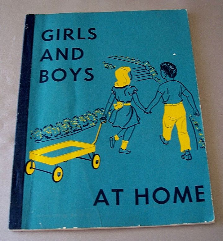 Girls And Boys At Home  1955 School Reader