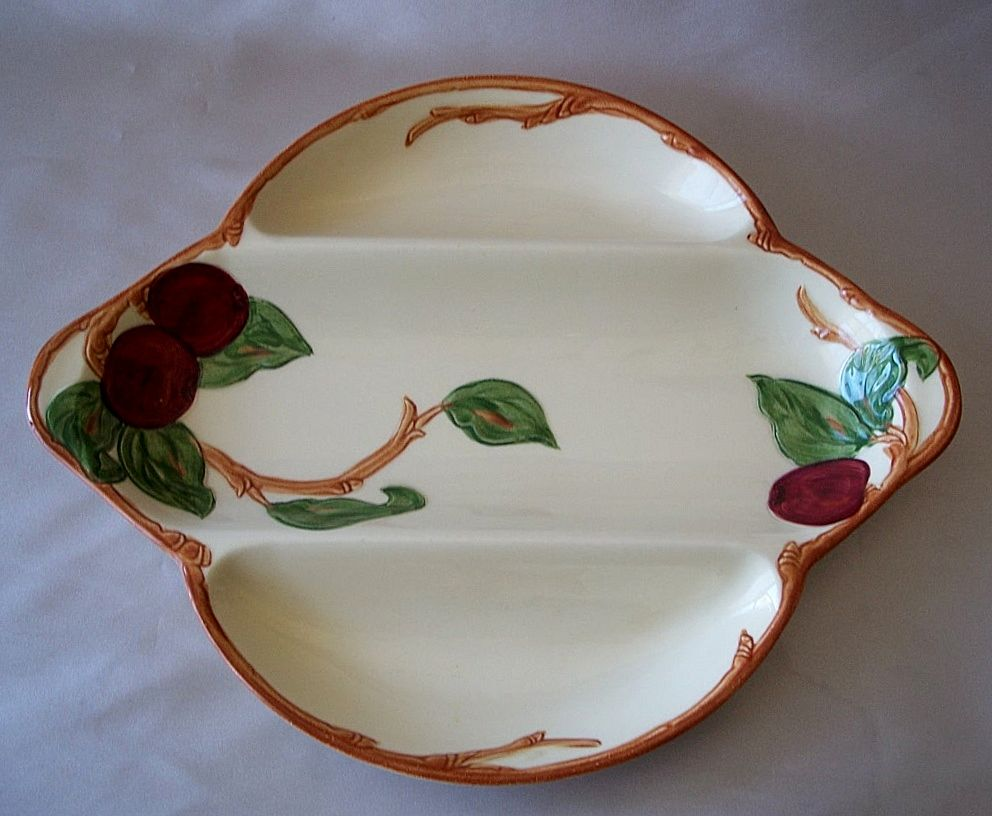 Vintage Franciscan Apple Divided Relish Dish