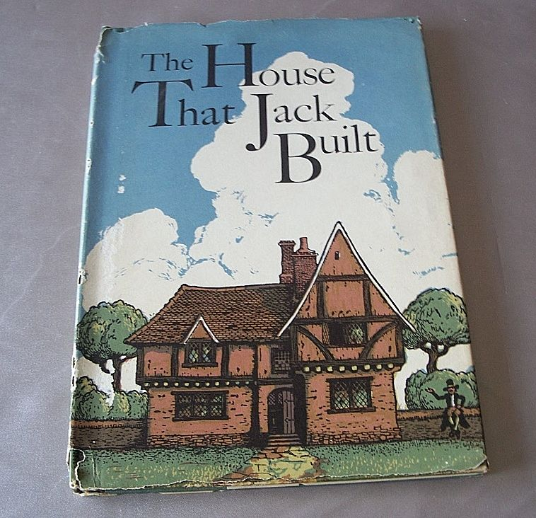 Vintage Children 's Book The House That Jack Built
